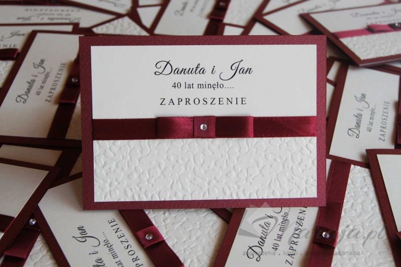 Zaproszenia Zaproszenie Na Jubileusz Małzeństwa Zj7